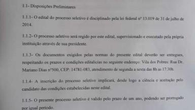 ABERTURA DE EDITAL